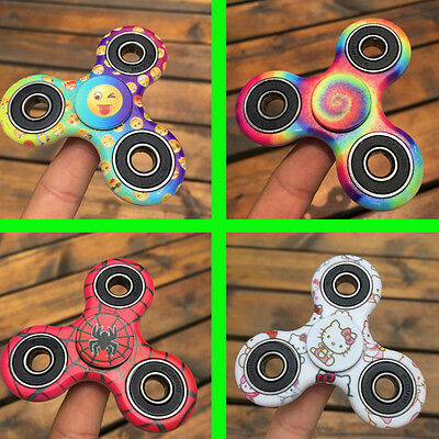 Tri Fidget Hand Spinner Kitty Spider Emoji Toy Finger Edc Adhd Autism Stress