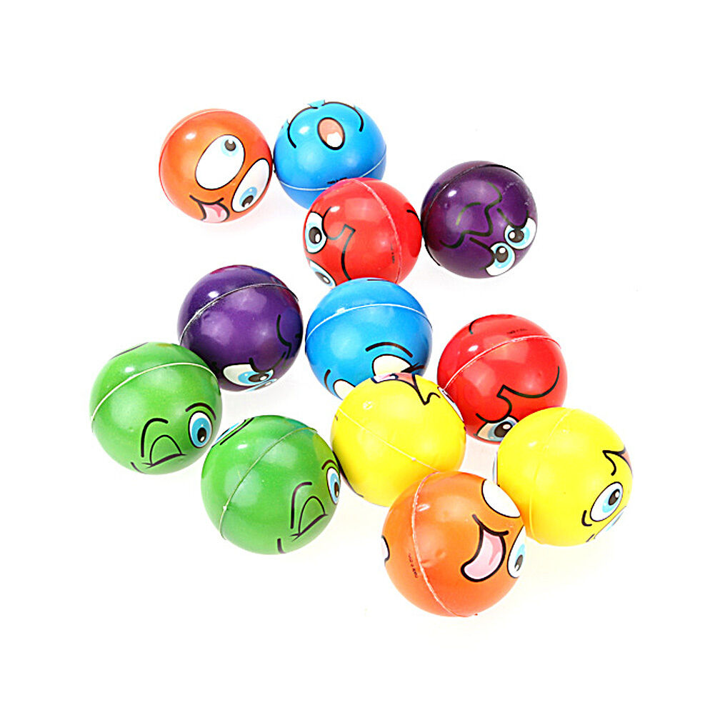 Wholesale 1 lot/12PCs Emoji Face Squeeze Balls Stress Relax Emotional Toy Balls