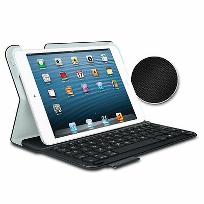 Logitech Wireless Ultrathin Keyboard Textured Folio Case iPad Mini 2 & 3 - Black