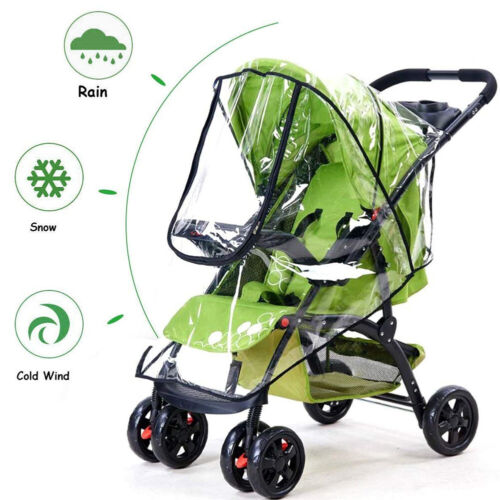 Stroller Protective Cover Breathable Stroller Rain Cover for US All Weathers