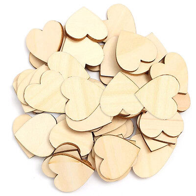 Diy Wooden Table (50pcs Rustic Wooden Wood Love Heart Wedding Table Scatter Decoration DIY)