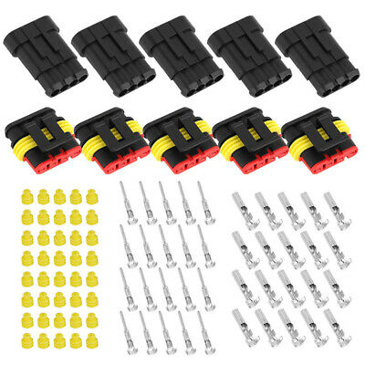 5kit 5 Pin Way Car Auto Electrical Wire Connector Plug Terminal Dustwaterproof