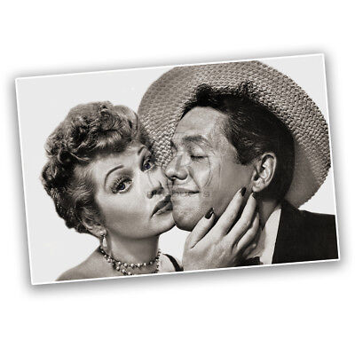 Lucy and Ricky Ricardo I Love Lucy TV Show Photo Reproduction Wall Poster - Lucy And Ricky Ricardo