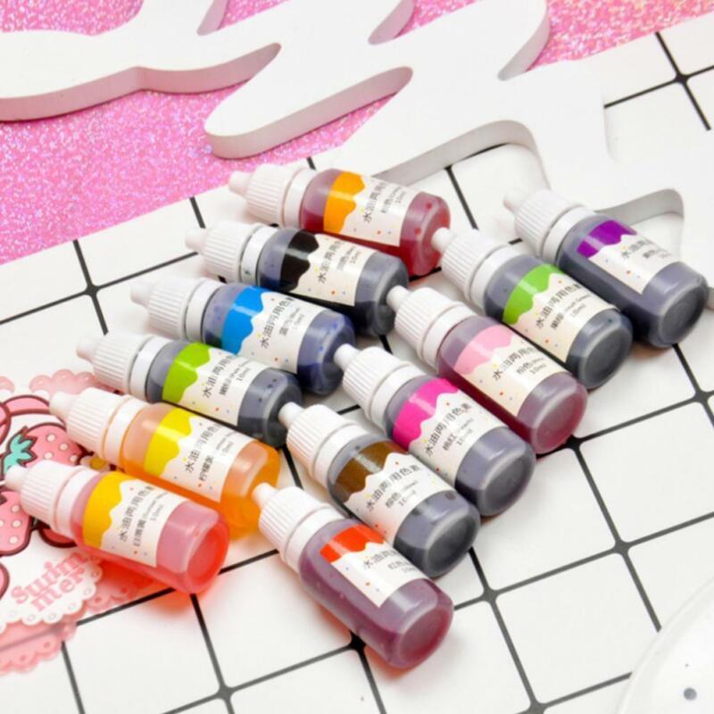 10ml 12 Colors DIY Material Handmade Soap DYE Pigments Liqui