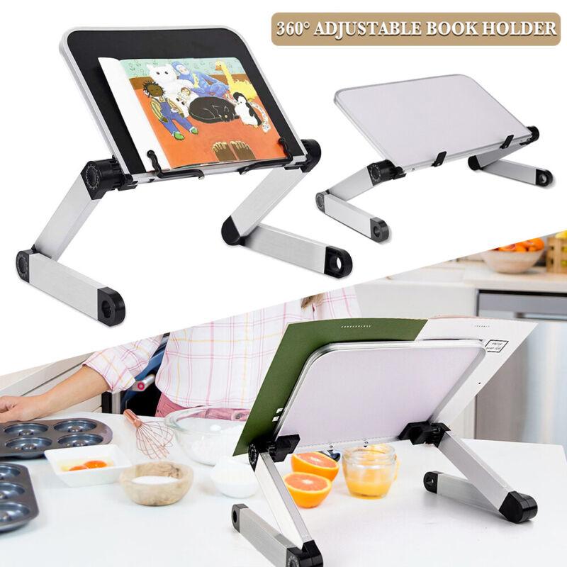 Book Holder, Cookbook Stand Adjustable Book Stand Desk Foldable Reading Bookrest