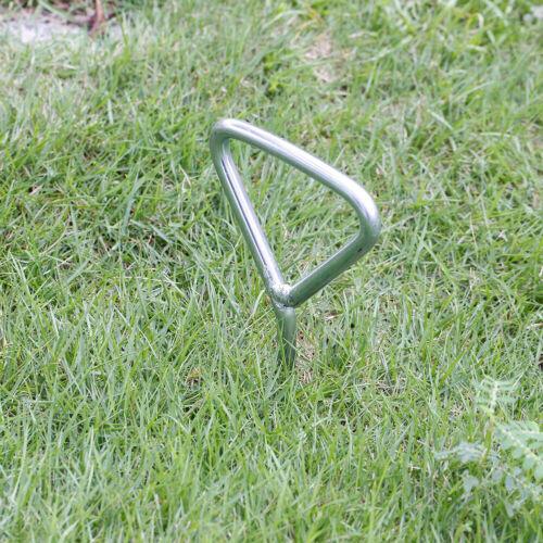 8X Bodenverankerung Bodenanker Erdanker+Gurt für Trampolin Schaukel Gartenhaus