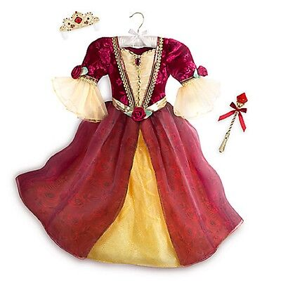 Disney Store Deluxe Belle Kostüm Prinzessin Kostüm Größe 5/6 New