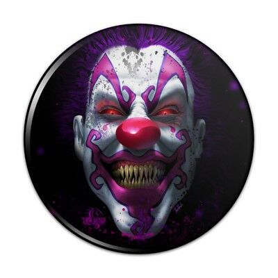 Scary Clown Mirror (Creepy Scary Clown Keep It Smiling Compact Pocket Purse Hand Makeup)