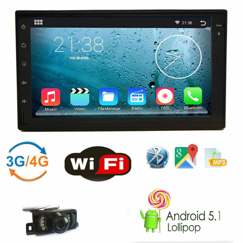 7inch Android OS Double 2 Din InDash Car No DVD Radio Stereo WiFi 3G GPS+ Camera