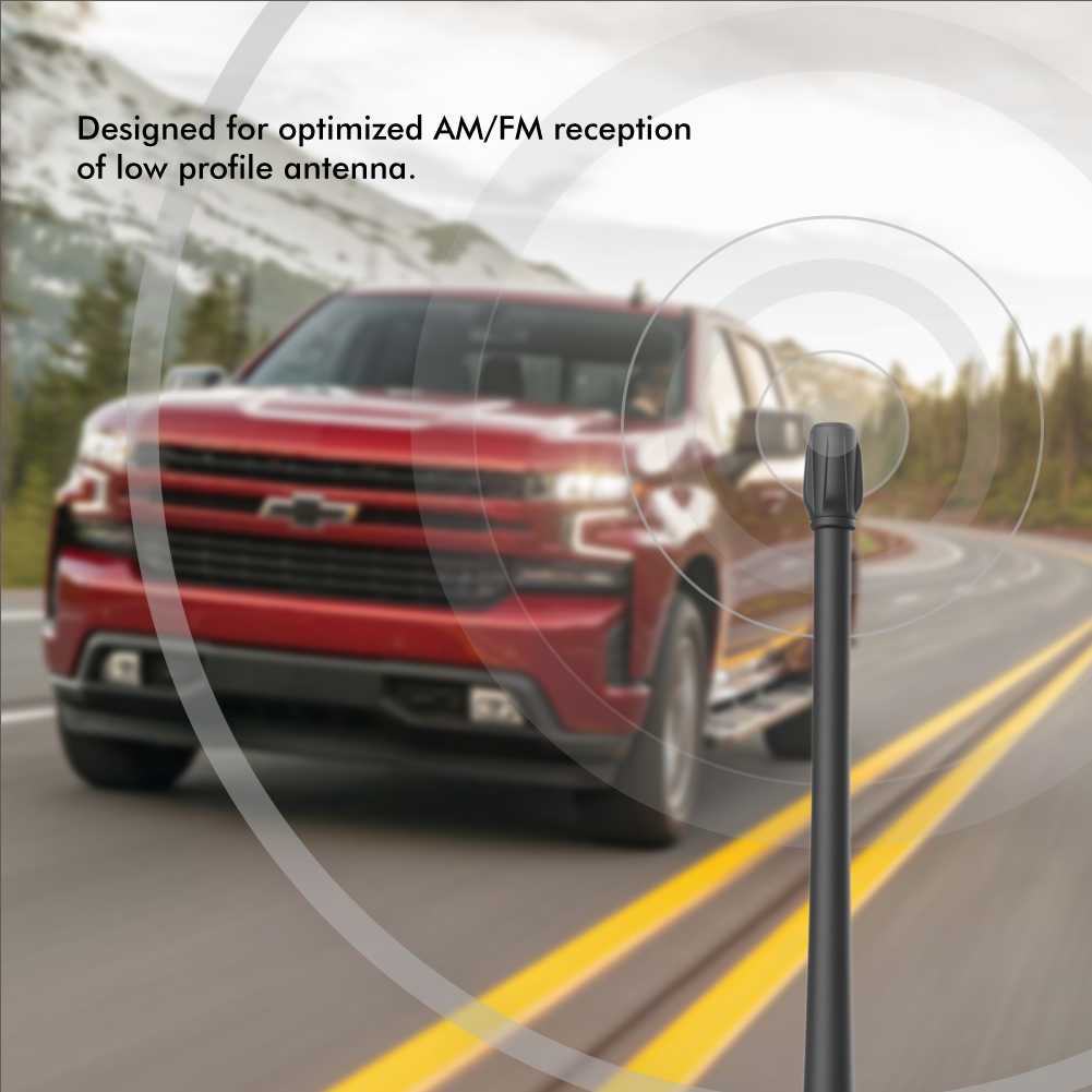 как выглядит Rydonair 9 inches Antenna Compatible with Chevy Silverado GMC Sierra/Denali фото