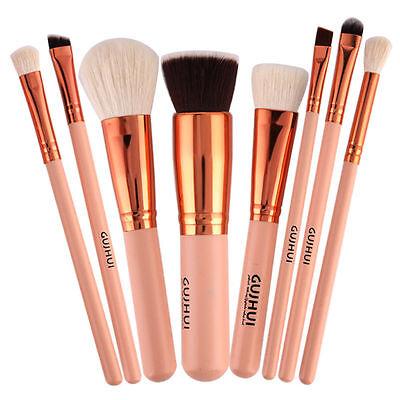 Pro 8pcs Makeup Brush Set Foundation Eyeshadow Eyeliner Lip Brush Tool TEUS