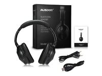 NEW SEALED AUSDOM M04S BLUETOOTH OVER EAR WIRELESS HEADPHONES (BLACK)