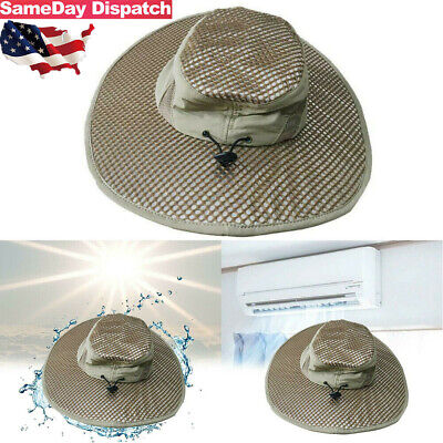 Evaporative Cooling Bucket Hat Arctic Hat UV Protection Sunscreen Cooling Summer (Foam Hat)