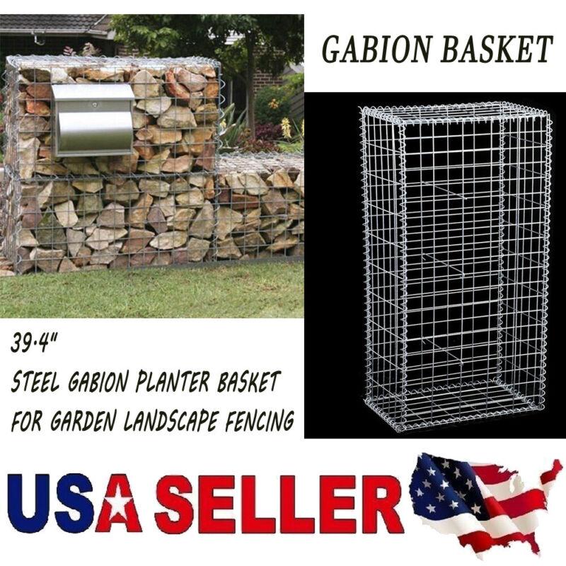 Patio Fence Cage Outdoor Garden Fencing Galvanized Steel Gabion Planter Basket