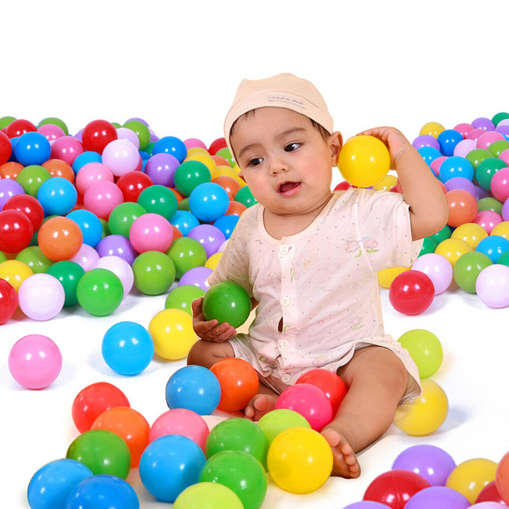 100 Pcs Colorful Baby Kid Pit Toy Game Swim Pool Soft Plastic Ocean Ball 5.5cm