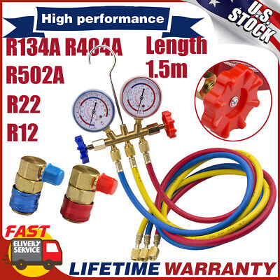R134a R404a Refrigeration Air Conditioning Ac Diagnostic Manifold Gauge R22 R12