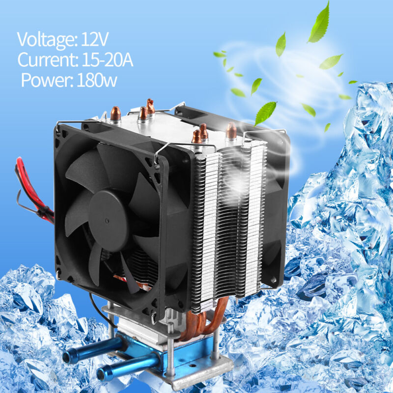 12V Thermoelectric Peltier Refrigeration DIY Water Cooling System Cooler Device