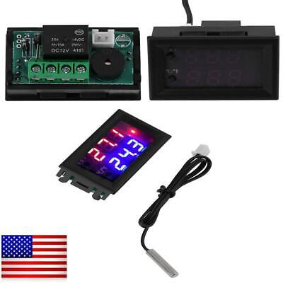 Digital Led Microcomputer Thermostat Controller Switch Temperature Sensor 12v Dc