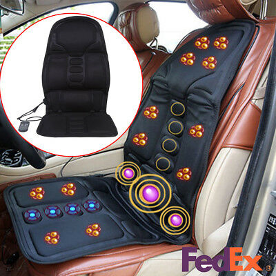 Lumbar Massage Cushion - Heated Back Massage Cushion Seat Car Vibration Chair Body Lumbar Neck Pad