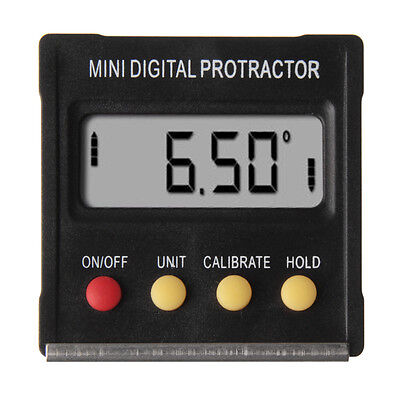 Mini Electronic Digital Protractor Inclinometer Angle Meter Magnetic Base 360