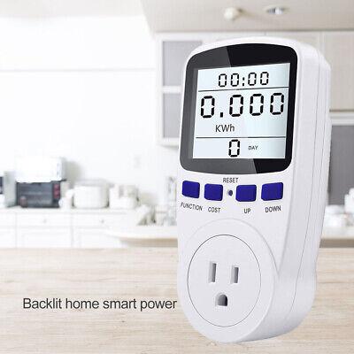 Smart Meter Digital Display Power Monitor Wattmeter Voltage Wattage Kwh Ammeter