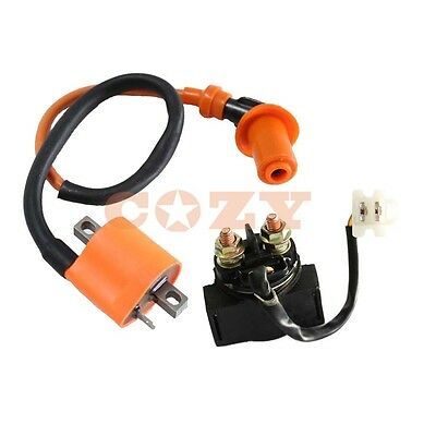 Starter Solenoid Relay & Ignition Coil for YAMAHA WARRIOR 350 YFM350 1987-2004