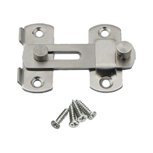 Stainless Steel Door Bolt Latch Slide Catch Lock Safety Gate