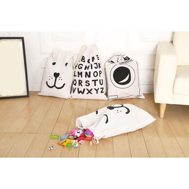 Baby Kid Toys Storage Canvas Bags Bear Laundry Basket New La