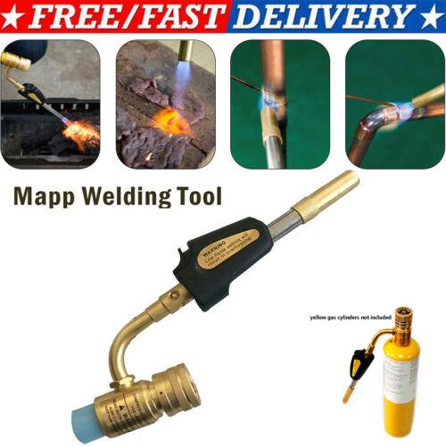 Photo Gas Self Ignition Turbo Torch Brazing Soldering Propane Welding Plumbing gun US