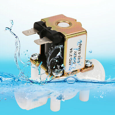 12v 12 Nc Plastic Electric Solenoid Magnetic Water Valve Air Normally Closed