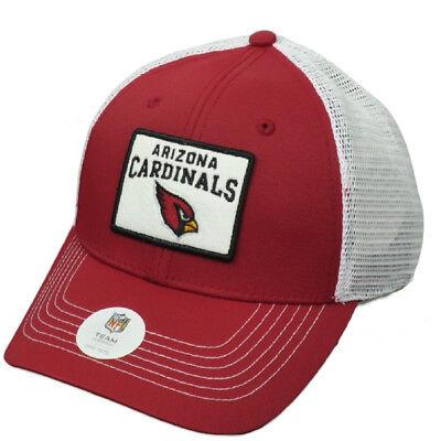Nfl Arizona Cardinals (NFL Arizona Cardinals Burgundy White Mesh Snapback Hat Cap Trucker Curved Bill)