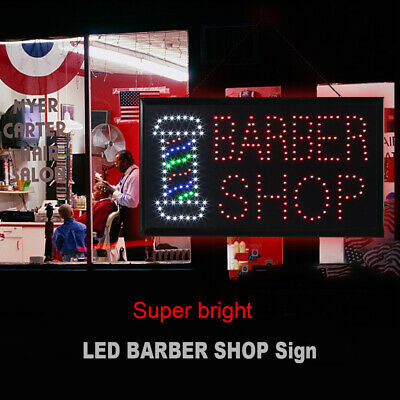 21.6 X13 Rgb Colorful Flashing Led Barber Shop Sign Scrolling Message Display