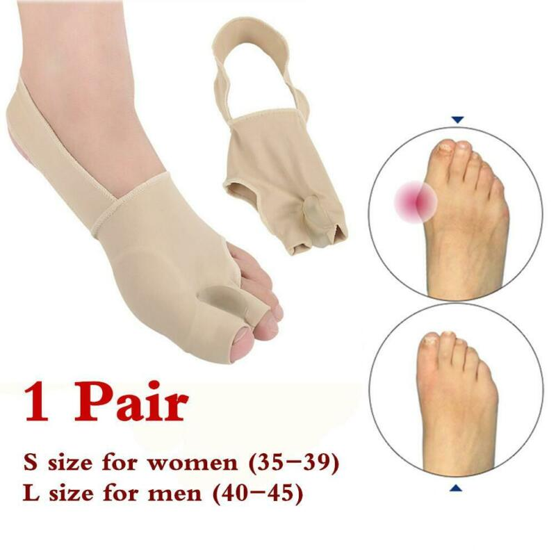 1Pair Big Toe Corrector socks Bunion Splint Straightener Foo