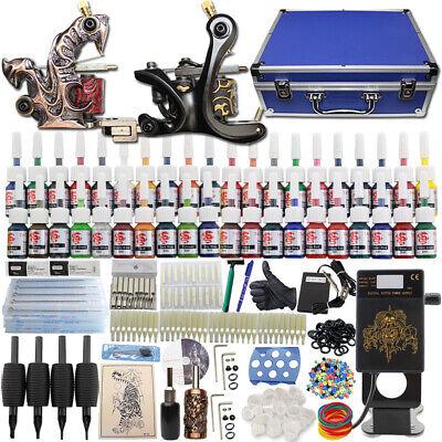 Kit completi Materiale per tatuaggi Power 40 Inchiostro Alimentatore Pedale Aghi
