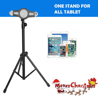 Universal Tablet Stand Tripod Floor Stand 360 Adjustable Holder Fit iPad Pro12.9