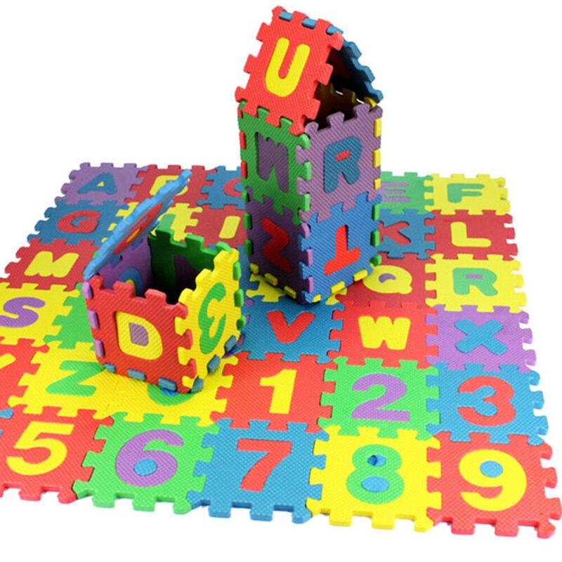 36pcs Baby Crawling Mat Soft EVA Foam Kids Play Mat Floor Interlocking Mats US