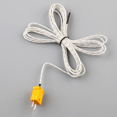 1pc K Type Thermocouple Probe Sensor For Digital Thermometer 2m