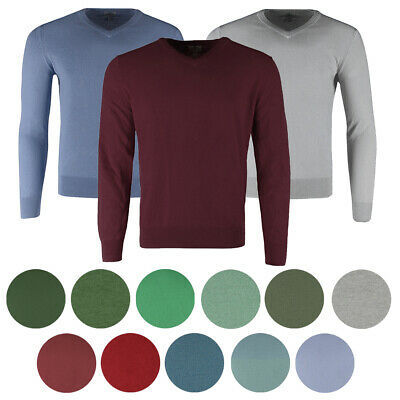 St John's Bay Men's Long Sleeve V Neck Solid Cotton Pullover Sweater Clothing, Shoes & Accessories