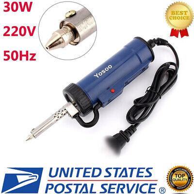 30w 50hz Electric Vacuum Solder Sucker Desoldering Pump Iron Gun E Class Us