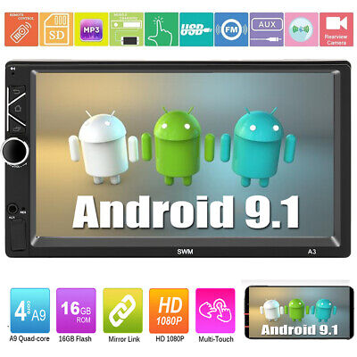"Android 9.1 Navegación GPS WiFi 7 ""2Din Quad Core Car Stereo MP5 Player Radio FM"