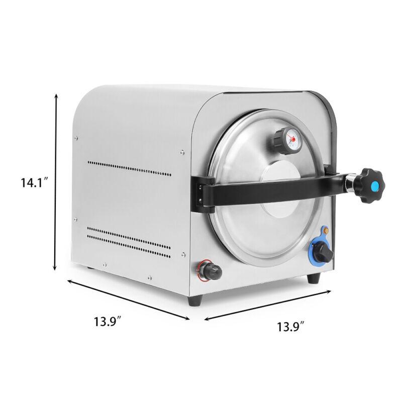 14L Dental Lab Autoclave Steam Sterilizer Medical Sterilization Equipment 900W