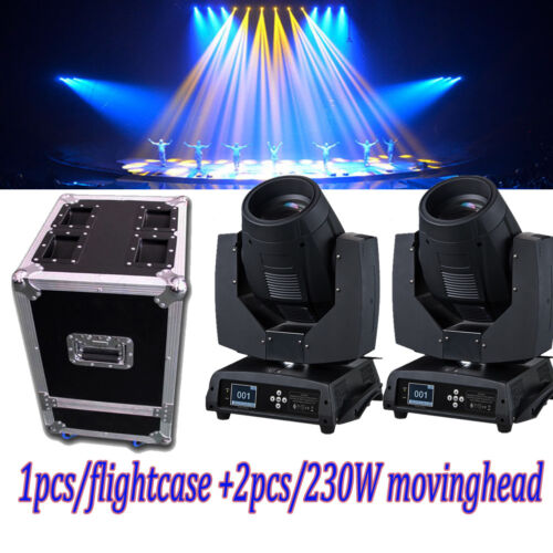 2PCS 230w sharpy 7R moving head beam light with 2 in 1 flight case free shipping