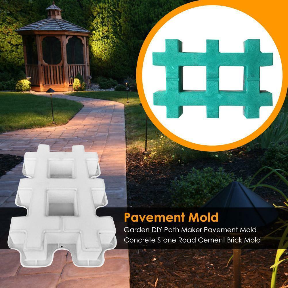 garden-diy-path-maker-pavement-mold-concrete-stone-road-cement-brick-mold-tools