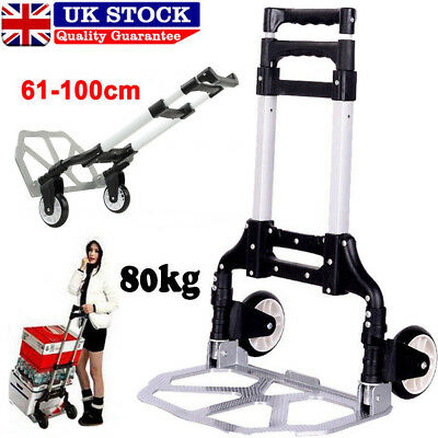 Heavy Duty Folding Truck Hand Sack Trolley Barrow Cart Platform Truck 80KG UK