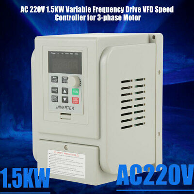 1.5kw 2hp Ac220v Vfd Inverter Single 3-phase Motor Variable Speed Drive Inverter