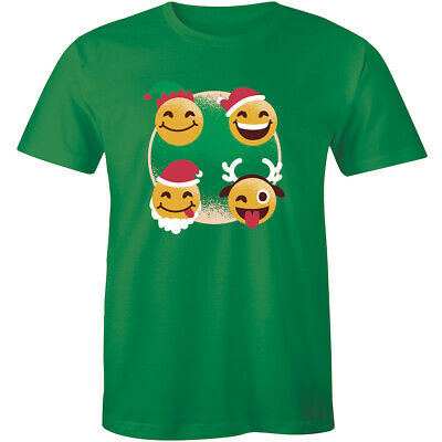 Funny Styles Christmas Emoticon Emojis Men's Tshirt Holiday Best Gift Tee