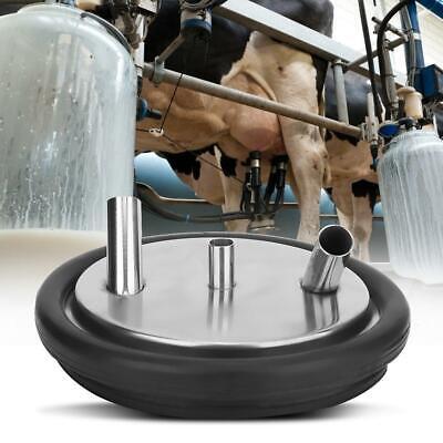 Stainless Steel Milk Can Wine Pail Bucket Tote Jug Heavy Three Open Bucket Lid