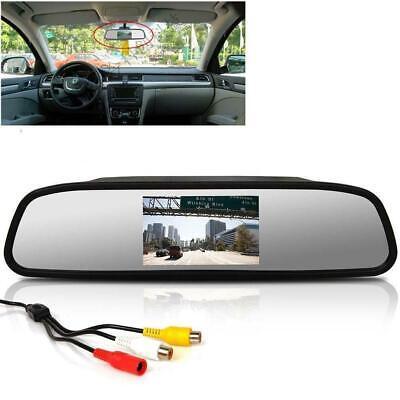 "Usado, 4.3"" TFT LCD Color Monitor Car Reverse Rear View Mirror for Backup Camera FZ comprar usado  Enviando para Brazil"