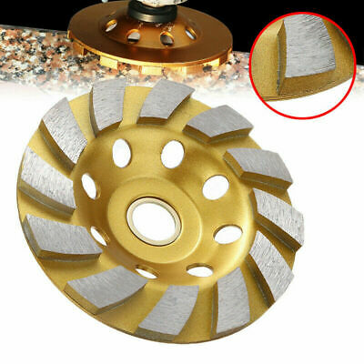New 4 Inch Diamond Segment Grinding Wheel Disc Grinder Cup Concrete Stone Cut