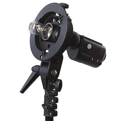Neewer S-type Flash Bracket Mount for Canon 580EX 600EX Nikon SB910 SB900